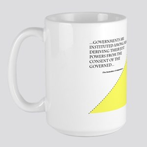 Consent Revoked - auto magnet trial 1 Large Mug