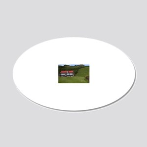 Classic Icelandic rural arch 20x12 Oval Wall Decal