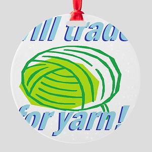 Will Trade Round Ornament