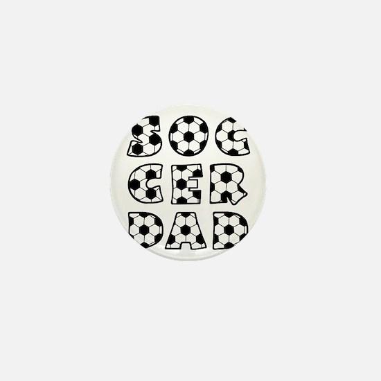 white  black, Dad block Mini Button