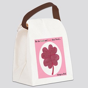 Red Clover 2 Canvas Lunch Bag