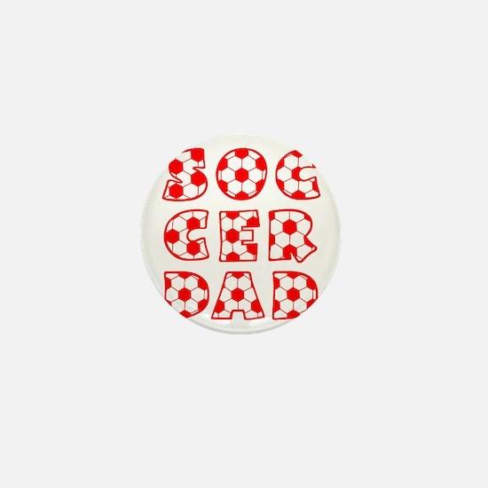 white  red, Dad block Mini Button
