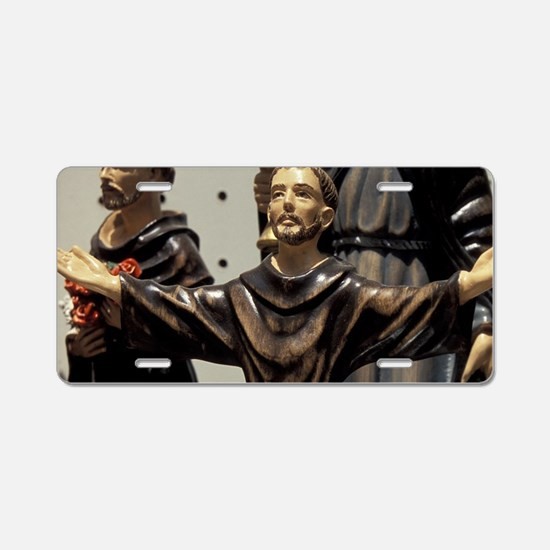 St. Francis statuettes for  Aluminum License Plate