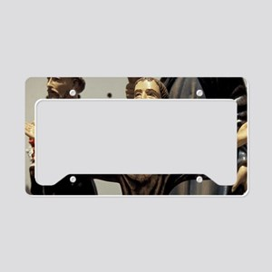 St. Francis statuettes for sa License Plate Holder