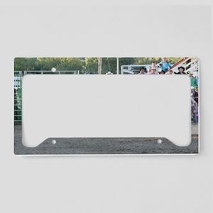 Tan Bull License Plate Holder
