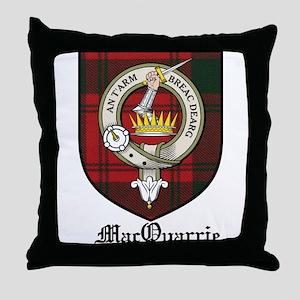 MacQuarrie Clan Crest Tartan Throw Pillow