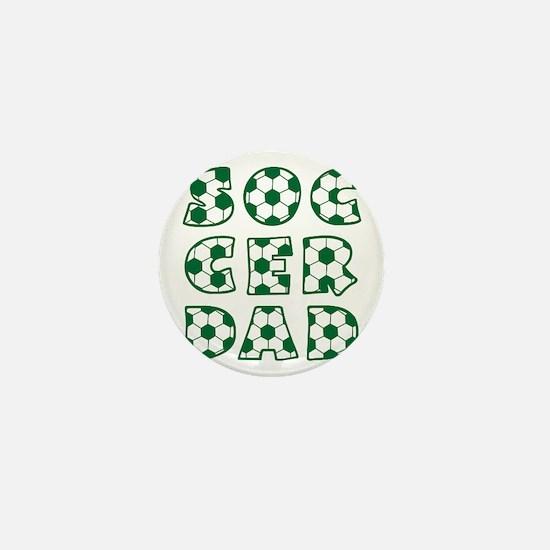 white  green, Dad block Mini Button