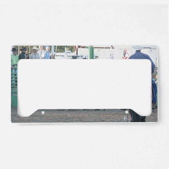 Brown Bull License Plate Holder