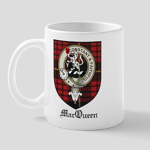 MacQueen Clan Crest Tartan Mug