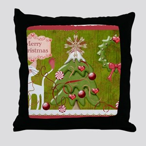 Merry Christmas Baubles 2 Throw Pillow