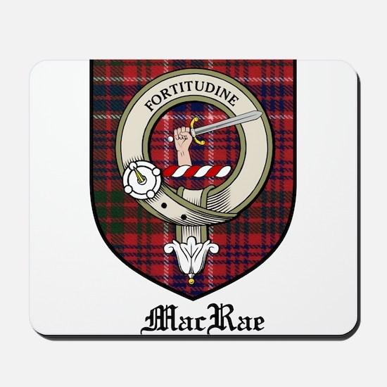 MacRae Clan Crest Tartan Mousepad