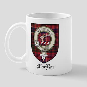 MacRae Clan Crest Tartan Mug