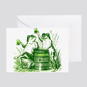Drunk Frogs St Patricks Day Greeting Cards (Packag