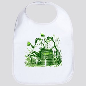 Drunk Frogs St Patricks Day Bib