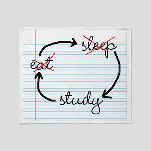 Eat sleep study Throw Blanket