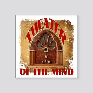"Theater Of The Mind Square Sticker 3"" x 3"""