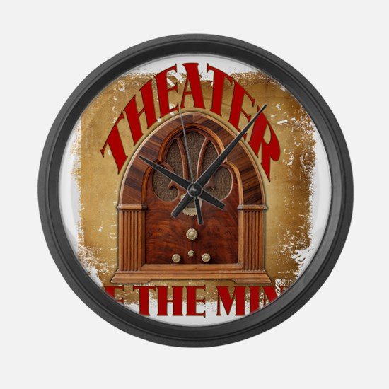 Theater Of The Mind Large Wall Clock