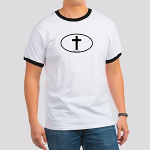 Cross Oval Ringer T