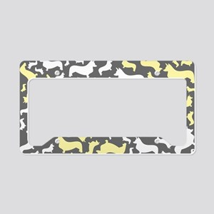corgiswirl_yellow License Plate Holder