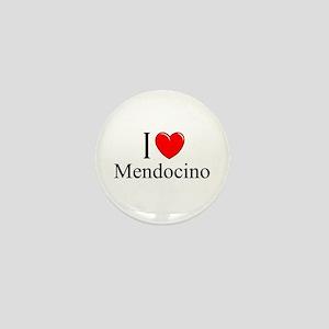 """""""I Love Mendocino"""" Mini Button"""