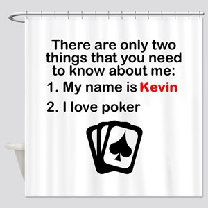 Two Things Poker Shower Curtain