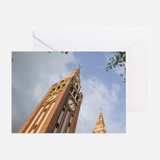 SZEGED: The Votive Church (completed Greeting Card