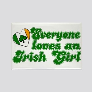 Everyone loves an Irish Girl Rectangle Magnet