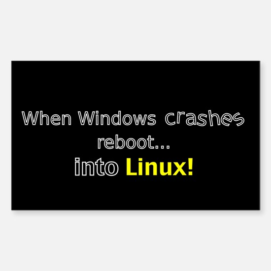 Reboot to Linux Rectangle Decal