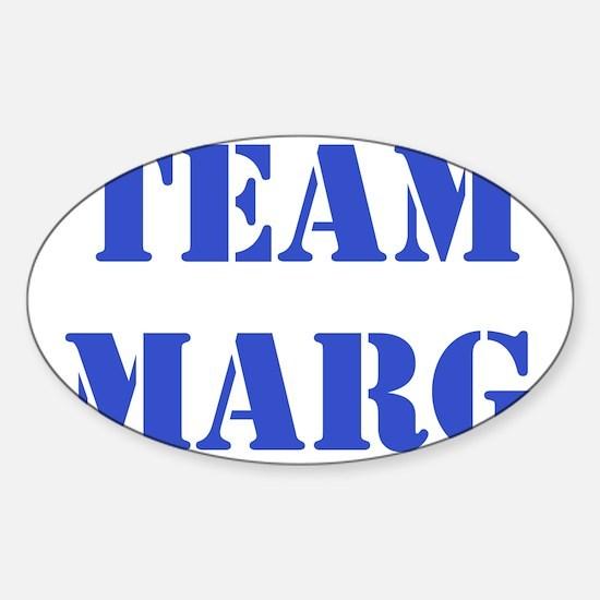 TEAM MARG BLUE Sticker (Oval)