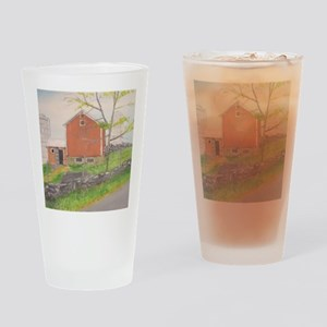 Barn in Fall - Warwick NY Drinking Glass