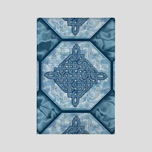 Celtic Diamond Aqua Rectangle Magnet
