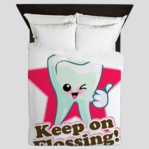 86999964Keep On Flossing Queen Duvet