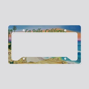 Moon Rocks Sunset d shirt License Plate Holder