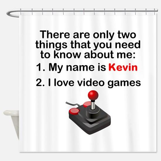 Two Things Video Games Shower Curtain
