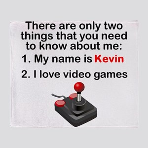 Two Things Video Games Throw Blanket