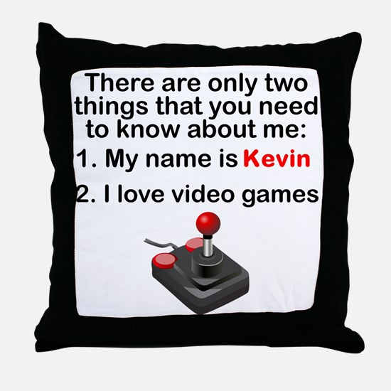 Two Things Video Games Throw Pillow