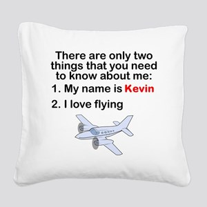 Two Things Flying Square Canvas Pillow