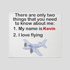 Two Things Flying Throw Blanket