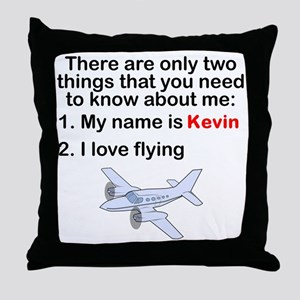 Two Things Flying Throw Pillow