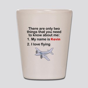 Two Things Flying Shot Glass