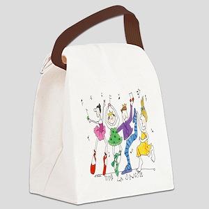 vive la danse tile Canvas Lunch Bag