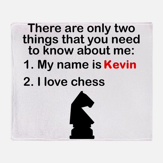 Two Things Chess Throw Blanket