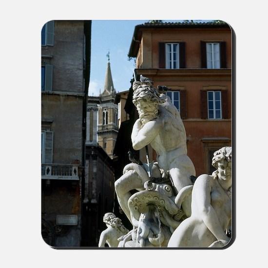 Fountain of Neptune. Piazza Navona. Rome Mousepad