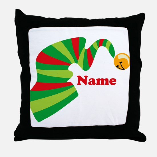 Personalized Elf Hat Throw Pillow