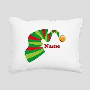 Personalized Elf Hat Rectangular Canvas Pillow
