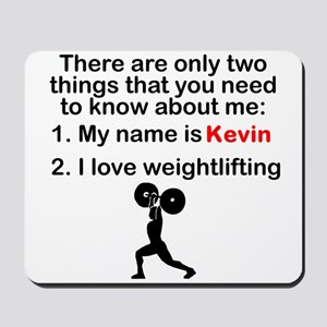 Two Things Weightlifting Mousepad