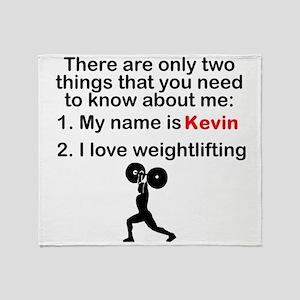 Two Things Weightlifting Throw Blanket