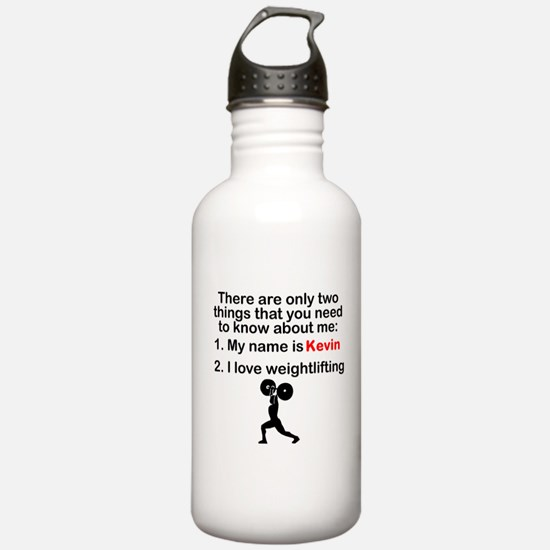 Two Things Weightlifting Sports Water Bottle