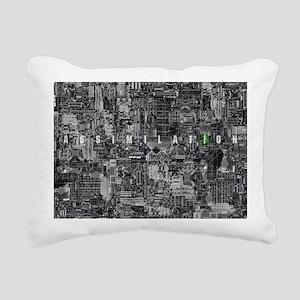 borg laptop Rectangular Canvas Pillow
