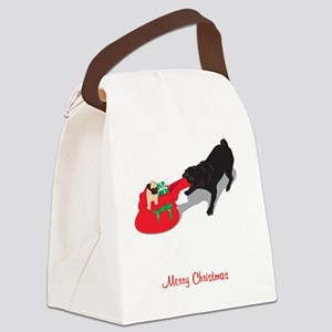 PugPullingBag Canvas Lunch Bag